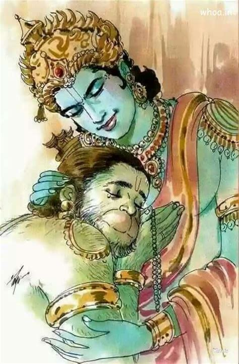 beautiful image  lord shri ram  hanuman milan