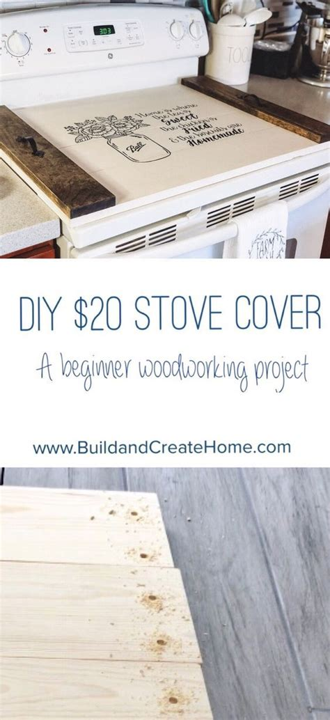 diy stove cover noodle board beginner woodworking