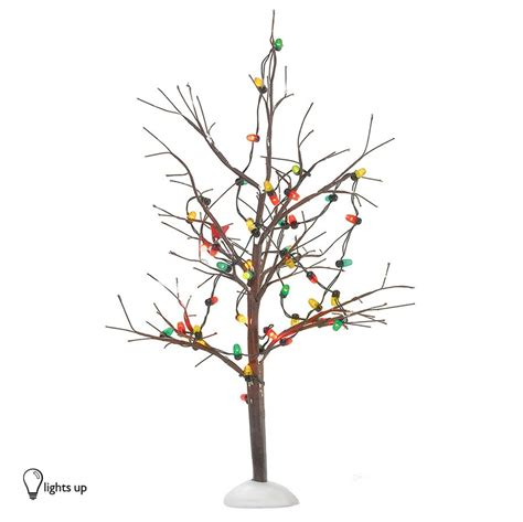 department   lighted christmas bare branch tree