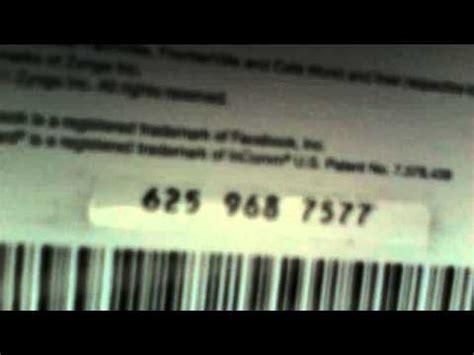 zynga game card code youtube