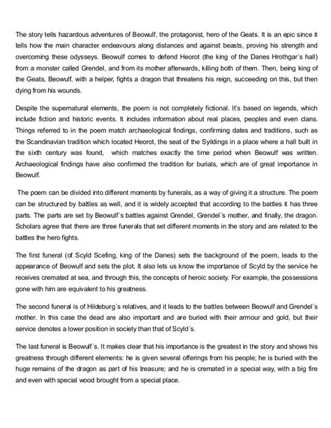 Beowulf And Evil Essay by Essays On Beowulf And Grendel