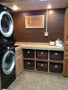 Laundry room makeover ideas for your mobile home ikea decora for Basement laundry room makeover ideas