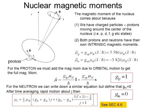 Proton Magnetic Moment by The Shell Model Of The Nucleus 5 Nuclear Moments Ppt
