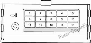 Fuse Box Diagram Ford Probe  1992