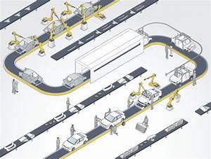 Auto Assembly Line Illustration