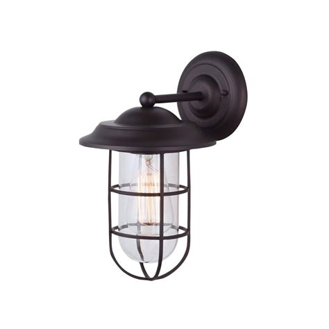 canarm bayard 1 light rubbed bronze outdoor wall light