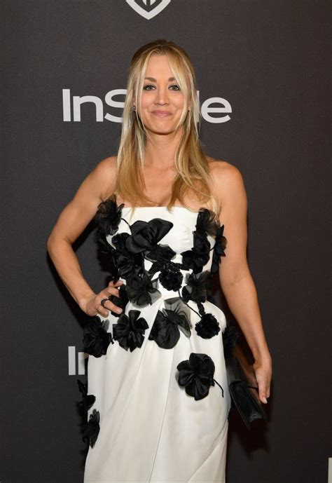 Kaley Cuoco Instyle Warner Bros Golden Globe Awards