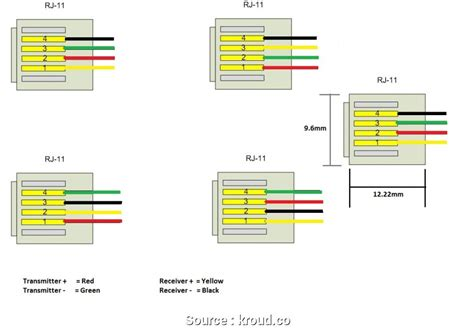 Rj45 Wiring Schematic by Power Wiring Color Code Rj11 Wiring Diagram