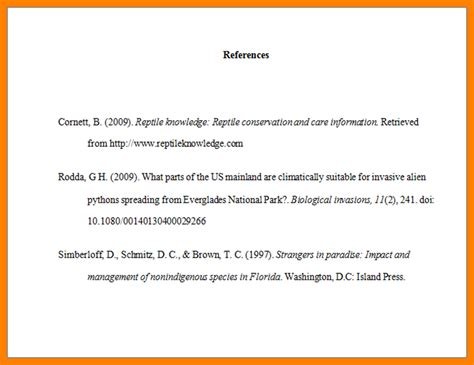 reference page in apa format exle