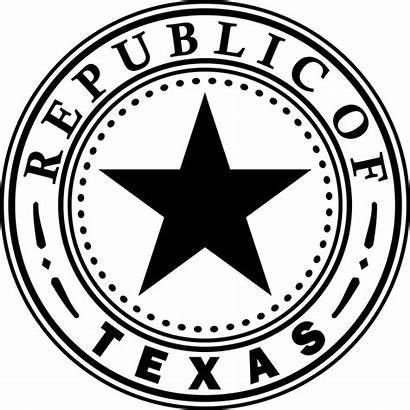 Texas State Republic Seal 1836 Svg Revolution