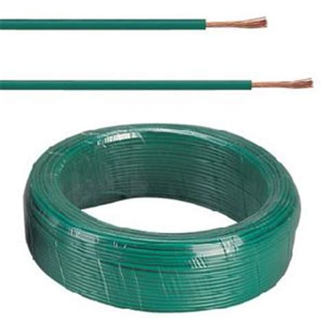 rate 450 750v pvc insulated electrical green sheath wire
