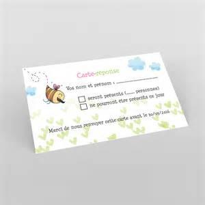 reponse mariage carte réponse de mariage réponse abeilles réf b83p