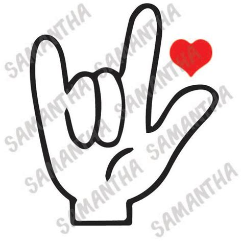 I thought this would look great with gold foil on a black tote. I love you in sign language heart valentines day Cameo ...