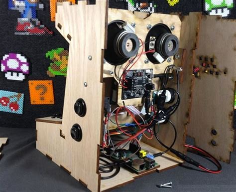 raspberry pi arcade cabinet size raspberry pi mini arcade cabinet kit available from