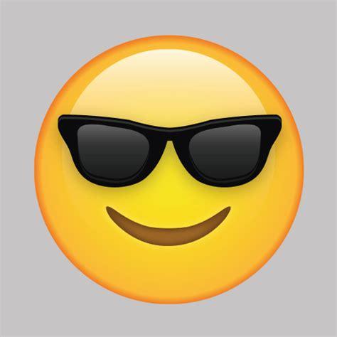 cool face  sunglasses emoji vinyl wall decal