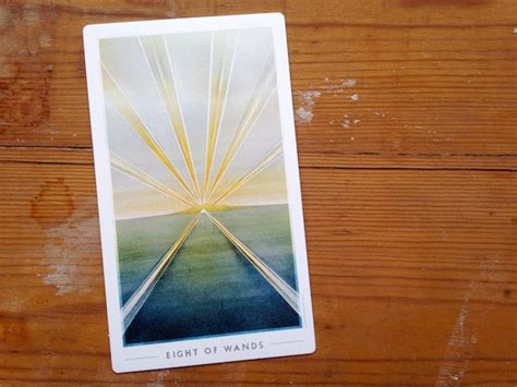 Your Todo List  Eight Of Wands  Little Red Tarot