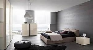 Quelle Couleur Avec Gris Anthracite : murs et ameublement chambre tout en gris tendance ~ Zukunftsfamilie.com Idées de Décoration