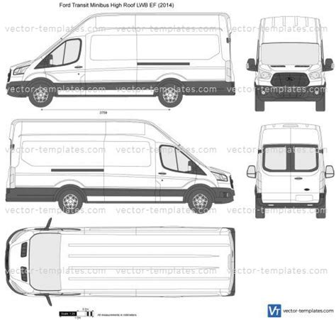 transit template eps templates cars ford ford transit minibus high roof