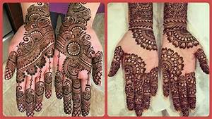 New Stylish Bridal Mehndi Designs For Front Hand  Easy ...