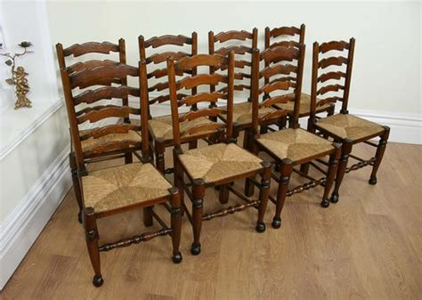 Ladder Back Dining Chairs With Rush Seats by 8 Ash Amp Elm Ladder Back Farmhouse Chairs C 1900