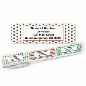 christmas holly rolled return address labels 5 designs With buy address stickers