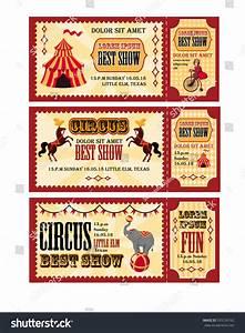 Circus Tickets Design Tent Circus Horses Stock Vector ...