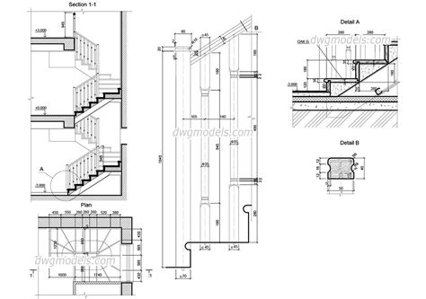 drawing staircases timber stair
