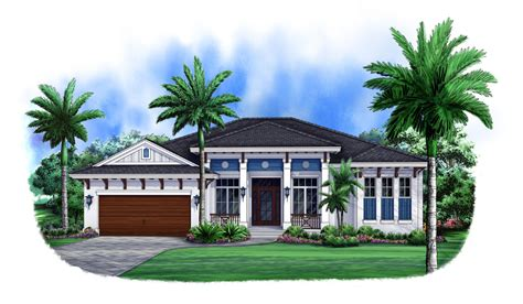 florida style house plan bedrm sq ft home theplancollection