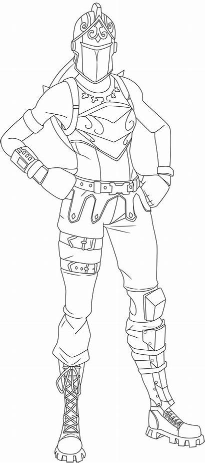 Knight Skin Fortnite Coloring Pages Renegade Printable