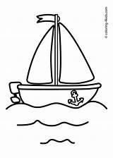 Coloring Boat Ship Sailing Transportation Visitar Pintar Dibujos sketch template