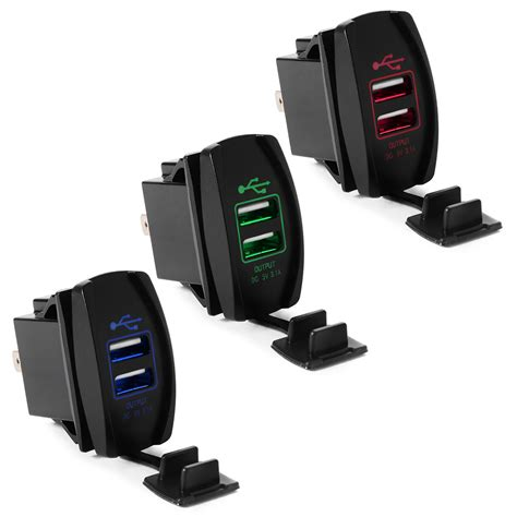 Boat Stereo Rocker Switch by Dual Ports Usb Charger Led Backlit Light Rocker Switch