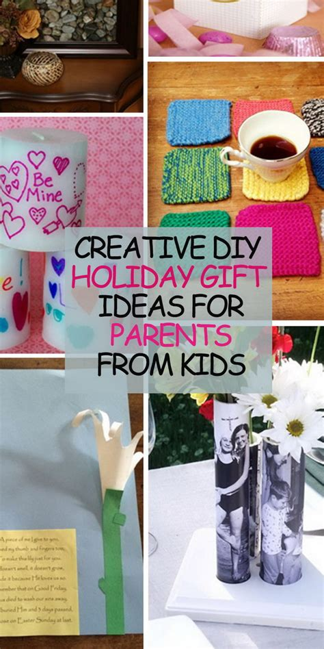 creative diy holiday gift ideas for parents from kids hative