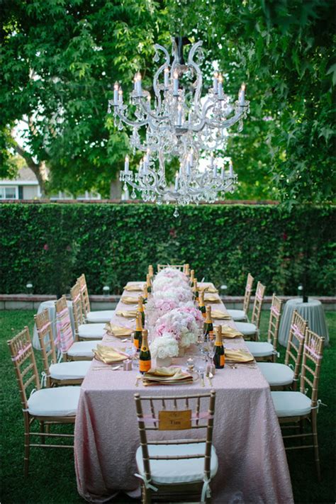 glamorous backyard surprise bridal shower  girl weddings