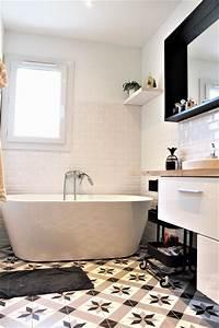 Carreaux De Ciment Salle De Bain : salle de bain carreau ciment decoration d 39 interieur idee ~ Melissatoandfro.com Idées de Décoration