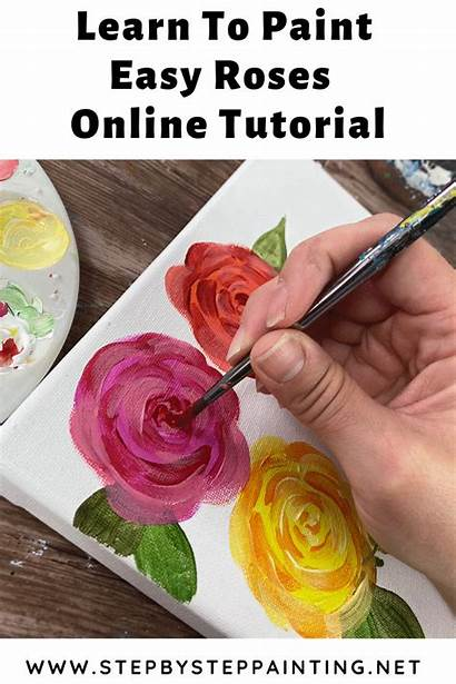 Easy Rose Simple Paint Painting Acrylic Flowers