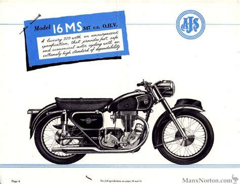 ajs 1956 catalogue 16ms