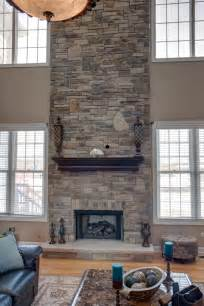 Refacing A Fireplace With Stone Veneer by Remodeling Your Two Story Fireplace North Star Stone