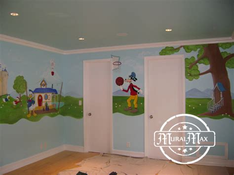 murals mickey mouse  friends mural kids childrens