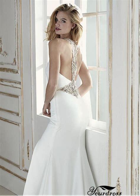 Backless fishtail wedding dress uk | Pinar wedding dress ...