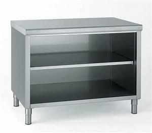 Meuble De Rangement Bas : meuble de rangement bas inox ouvert 180x90x70cm ~ Dailycaller-alerts.com Idées de Décoration