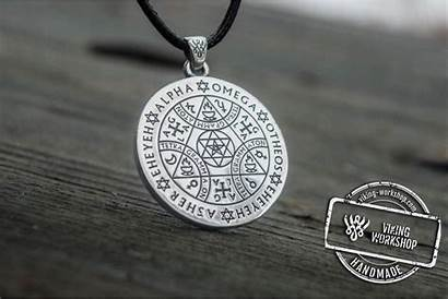 Silver Handmade Jewelry Occult Necklace Sterling Workshop