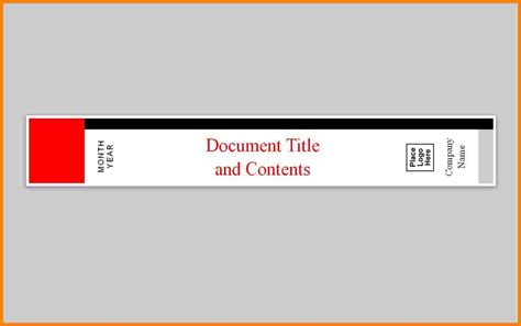 Half Inch Binder Spine Template by 5 1 Inch Binder Spine Template Letter Format For