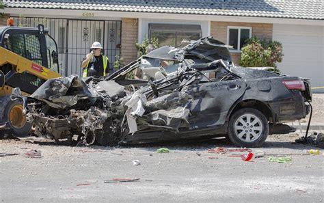 woman killed  car crash  construction site  las
