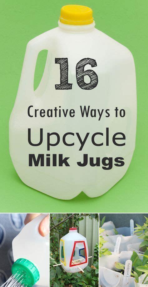 creative ways  reuse  upcycle milk jugs milk jug