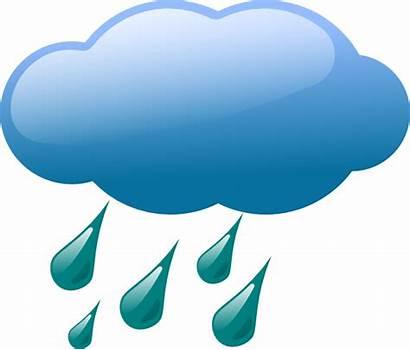 Rain Clipart Cloud Clip Clouds Rainy Weather