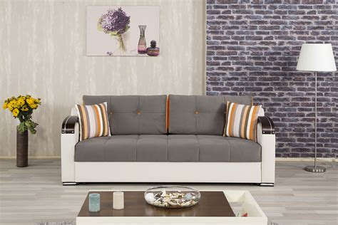 divan deluxe golf gray convertible sofa bed  casamode
