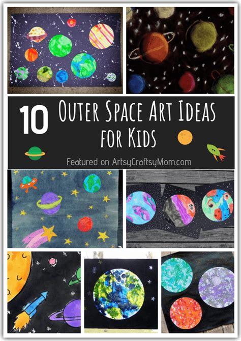 outer space art ideas      world