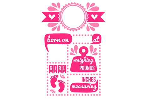 Announcing the birth of your baby has to be as festive to express the love and excitement that you feel. Birth stats svg, birth stats template, birth announcement