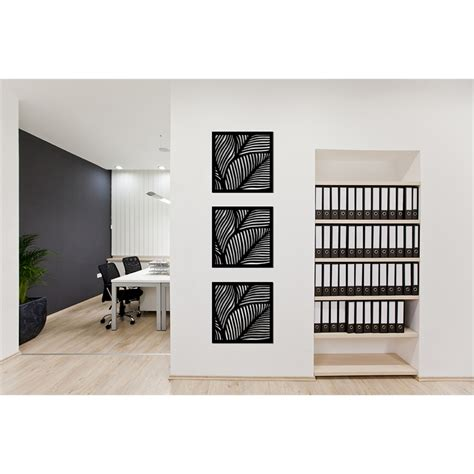 Order online, today, and get free delivery of your chosen wall coverings. Matrix 58cm x 58cm Charcoal Fronds Wall Art | Bunnings Warehouse