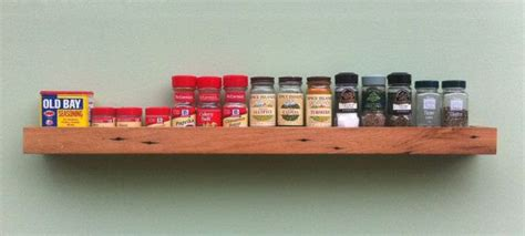Floating Spice Rack by Barn Wood Spice Rack Floating Wall Shelf By